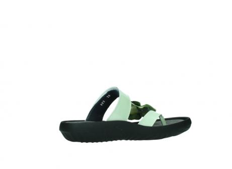 wolky slippers 0883 tahiti flower 679 mint groen lakleer_11