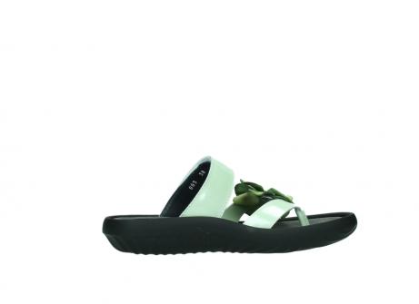 wolky slippers 0883 tahiti flower 679 mint groen lakleer_12
