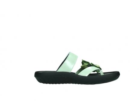 wolky slippers 0883 tahiti flower 679 mint groen lakleer_13