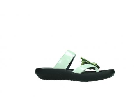 wolky slippers 0883 tahiti flower 679 mint groen lakleer_14