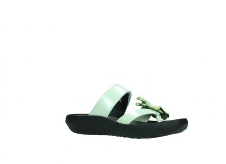 wolky slippers 0883 tahiti flower 679 mint groen lakleer_15
