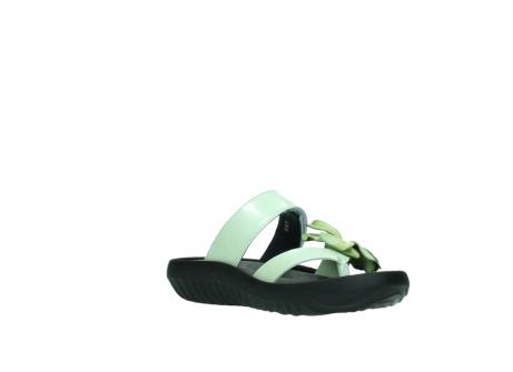 wolky slippers 0883 tahiti flower 679 mint groen lakleer_16