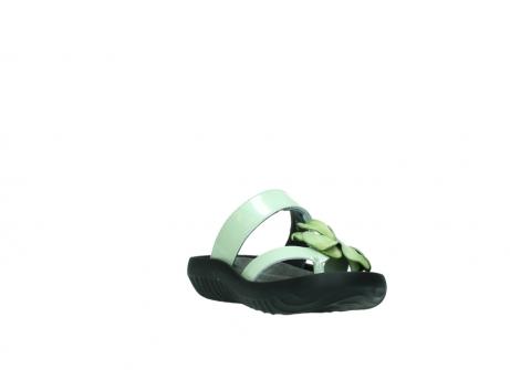 wolky slippers 0883 tahiti flower 679 mint groen lakleer_17