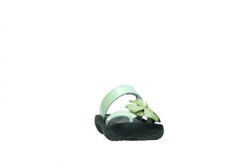 wolky slippers 0883 tahiti flower 679 mint groen lakleer_18
