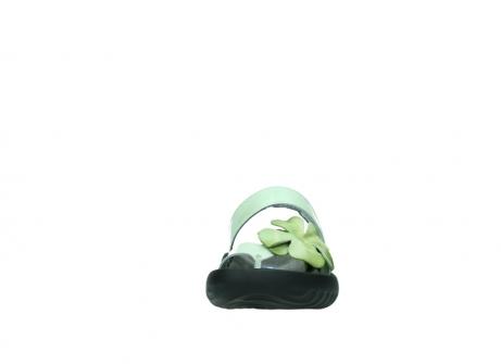 wolky slippers 0883 tahiti flower 679 mint groen lakleer_19
