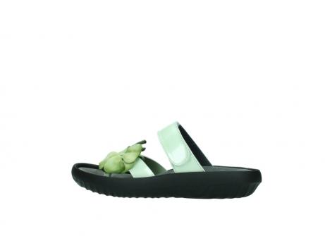 wolky slippers 0883 tahiti flower 679 mint groen lakleer_2