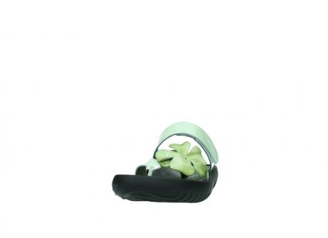 wolky slippers 0883 tahiti flower 679 mint groen lakleer_20
