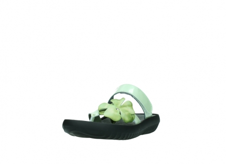 wolky slippers 0883 tahiti flower 679 mint groen lakleer_21