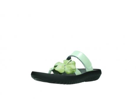 wolky slippers 0883 tahiti flower 679 mint groen lakleer_22