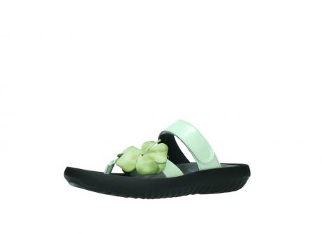 wolky slippers 0883 tahiti flower 679 mint groen lakleer_23