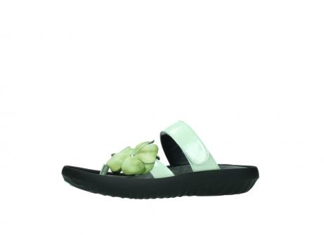 wolky slippers 0883 tahiti flower 679 mint groen lakleer_24
