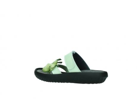 wolky slippers 0883 tahiti flower 679 mint groen lakleer_3