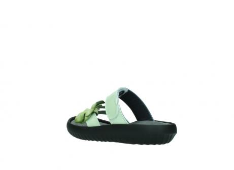 wolky slippers 0883 tahiti flower 679 mint groen lakleer_4