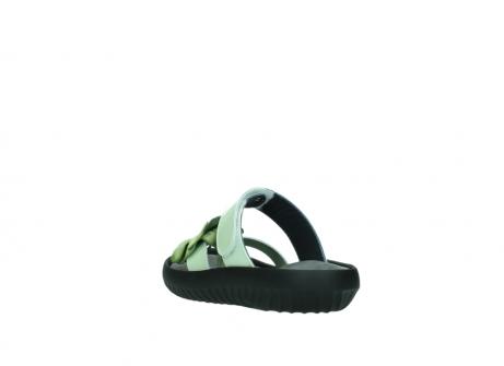 wolky slippers 0883 tahiti flower 679 mint groen lakleer_5