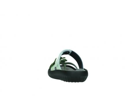wolky slippers 0883 tahiti flower 679 mint groen lakleer_6