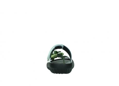wolky slippers 0883 tahiti flower 679 mint groen lakleer_7