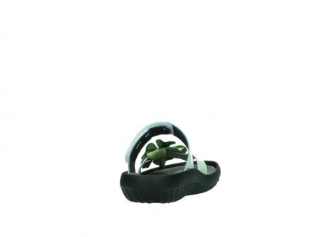 wolky slippers 0883 tahiti flower 679 mint groen lakleer_8