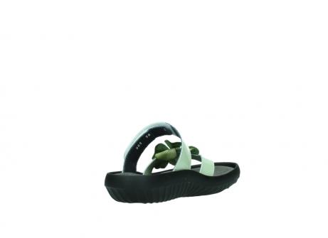 wolky slippers 0883 tahiti flower 679 mint groen lakleer_9