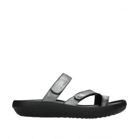 wolky slippers 0884 bali 928 grijs metallic leer
