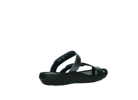 wolky slippers 0884 bali 928 grijs metallic leer_10