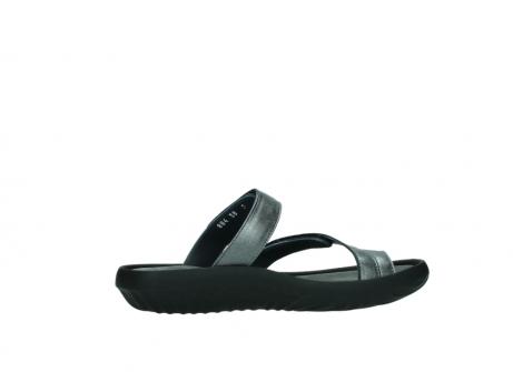 wolky slippers 0884 bali 928 grijs metallic leer_12