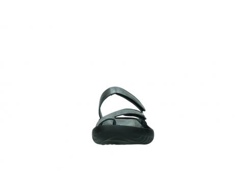 wolky slippers 0884 bali 928 grijs metallic leer_19