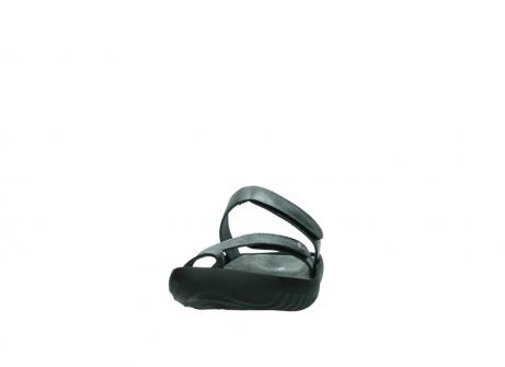 wolky slippers 0884 bali 928 grijs metallic leer_20