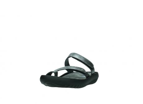 wolky slippers 0884 bali 928 grijs metallic leer_21