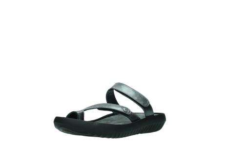 wolky slippers 0884 bali 928 grijs metallic leer_22