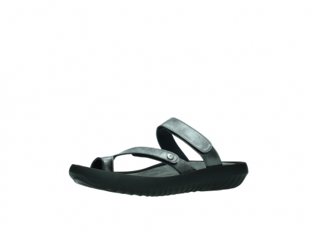 wolky slippers 0884 bali 928 grijs metallic leer_23