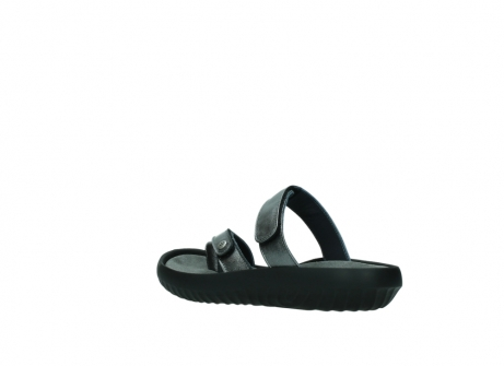 wolky slippers 0884 bali 928 grijs metallic leer_4