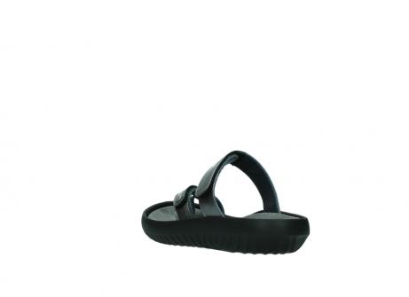 wolky slippers 0884 bali 928 grijs metallic leer_5