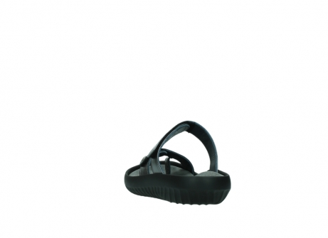 wolky slippers 0884 bali 928 grijs metallic leer_6