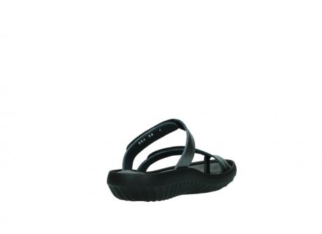 wolky slippers 0884 bali 928 grijs metallic leer_9