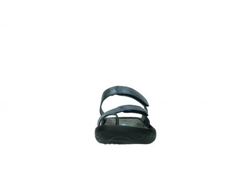 wolky pantoletten 0884 bali 980 blau metallic leder_19