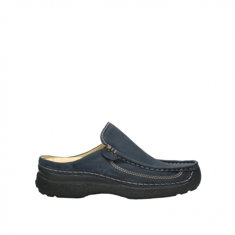 wolky heren slippers 09210 roll slide men 11800 blue