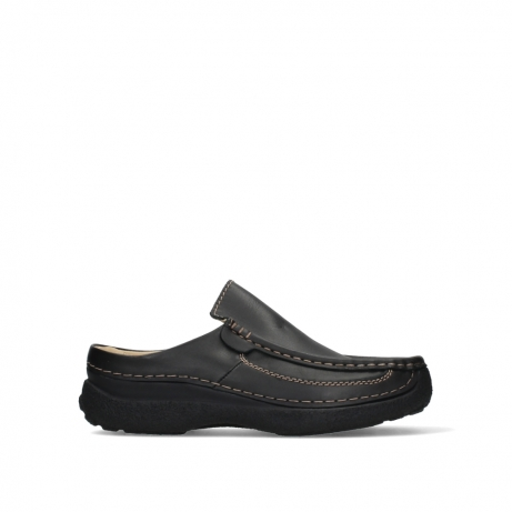 wolky slippers 09210 roll slide men 50000 zwart leer
