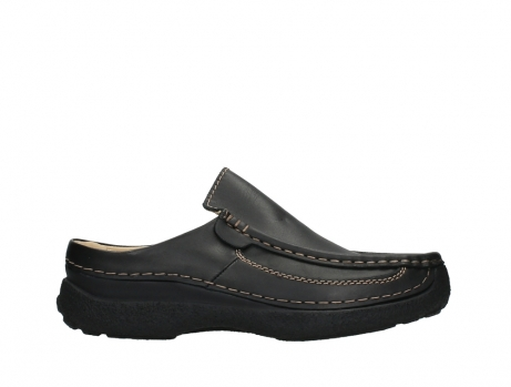wolky slippers 09210 roll slide men 50000 zwart leer_1