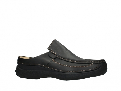 wolky slippers 09210 roll slide men 50000 zwart leer_2
