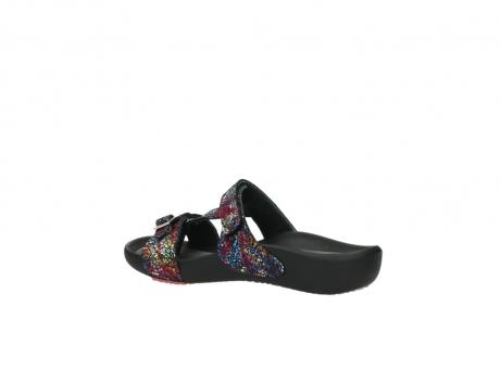 wolky slippers 1000 oconnor 497 multi zwart craquele leer_3