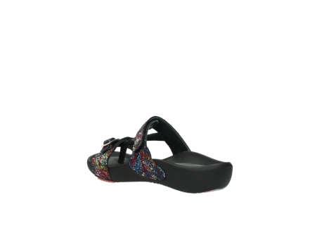 wolky slippers 1000 oconnor 497 multi zwart craquele leer_4