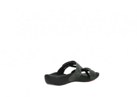 wolky slippers 1000 oconnor 621 antraciet slangenprint leer_10