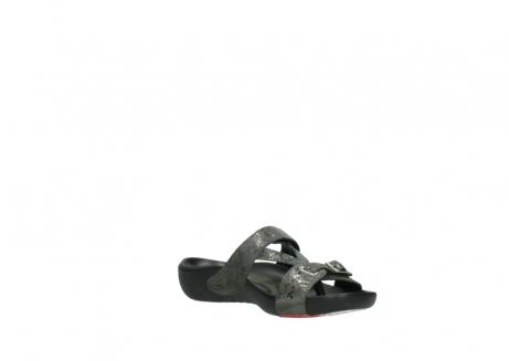 wolky slippers 1000 oconnor 621 antraciet slangenprint leer_16