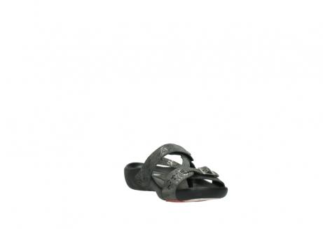 wolky slippers 1000 oconnor 621 antraciet slangenprint leer_17