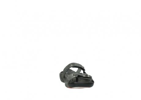 wolky slippers 1000 oconnor 621 antraciet slangenprint leer_18
