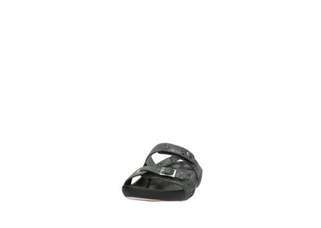 wolky slippers 1000 oconnor 621 antraciet slangenprint leer_20
