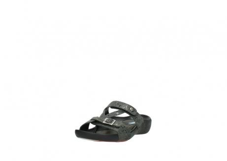 wolky slippers 1000 oconnor 621 antraciet slangenprint leer_21