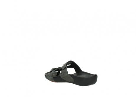 wolky slippers 1000 oconnor 621 antraciet slangenprint leer_4