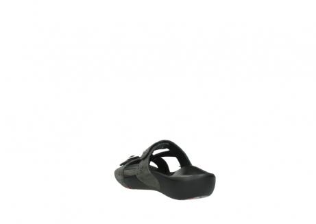 wolky slippers 1000 oconnor 621 antraciet slangenprint leer_5