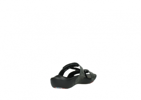 wolky slippers 1000 oconnor 621 antraciet slangenprint leer_9